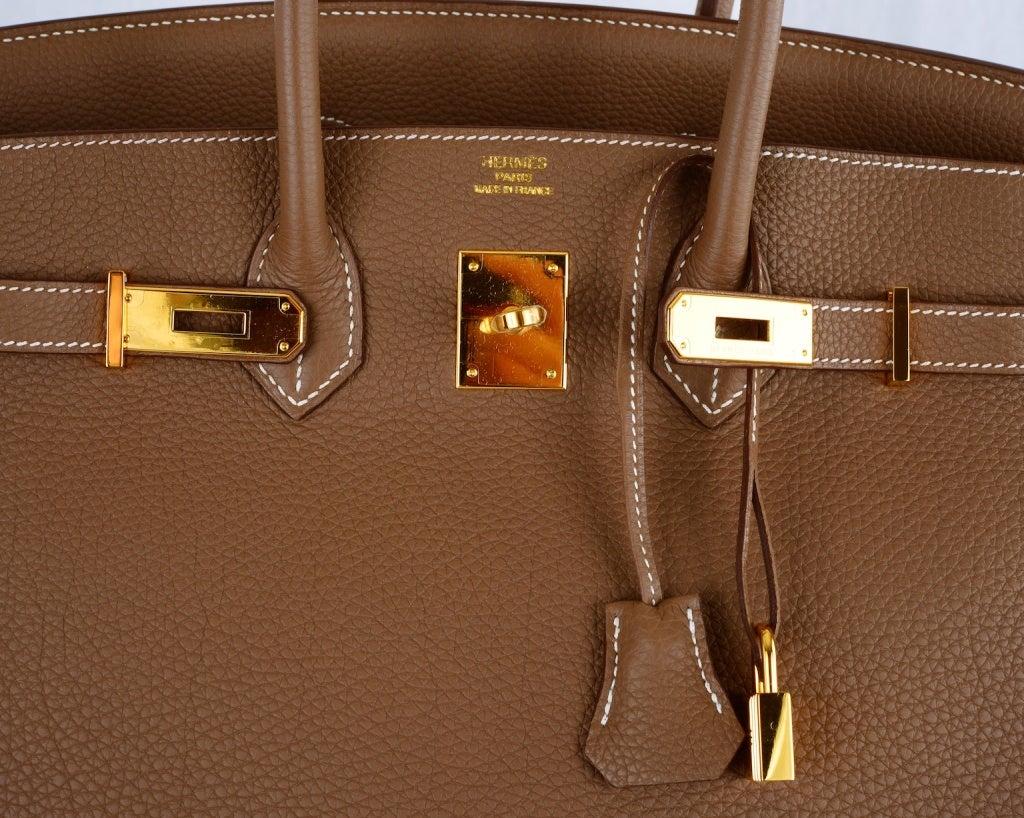 HERMES BIRKIN BAG ETOUPE 35CM GOLD HARDWARE WHATA BAG! image 3