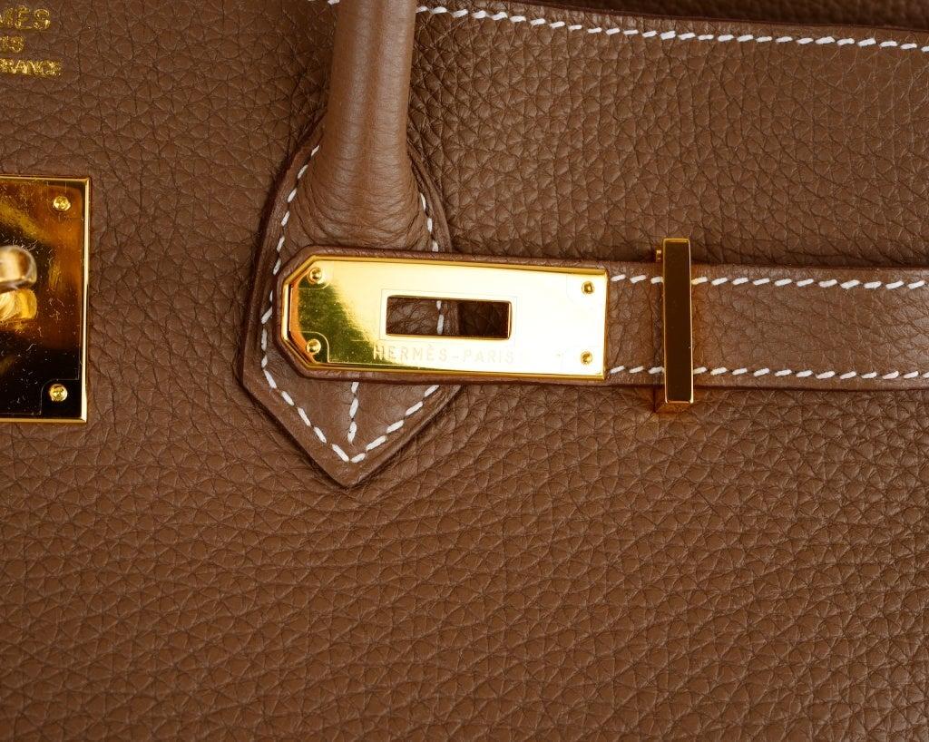 HERMES BIRKIN BAG ETOUPE 35CM GOLD HARDWARE WHATA BAG! image 6