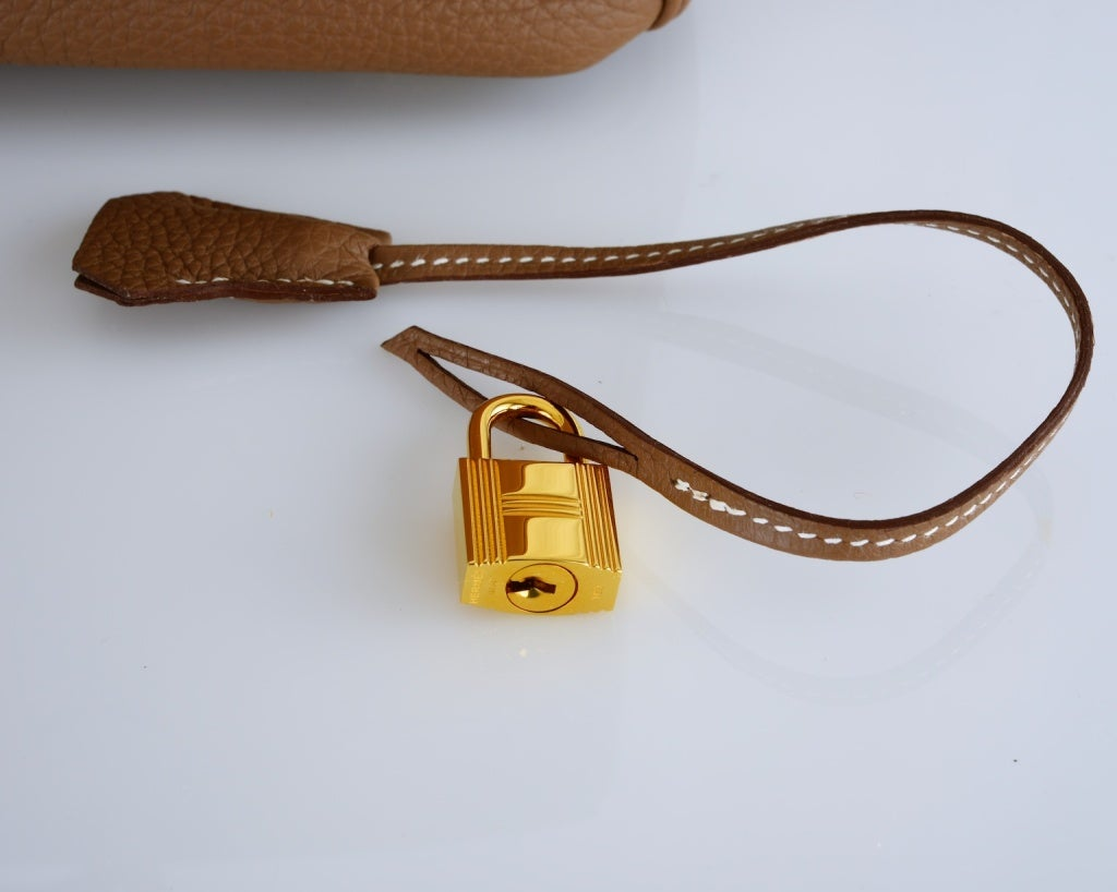 HERMES BIRKIN BAG ETOUPE 35CM GOLD HARDWARE WHATA BAG! image 8