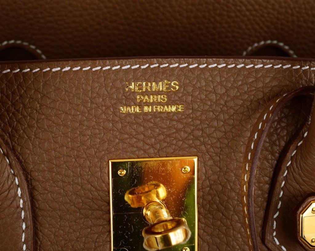 HERMES BIRKIN BAG ETOUPE 35CM GOLD HARDWARE WHATA BAG! image 9