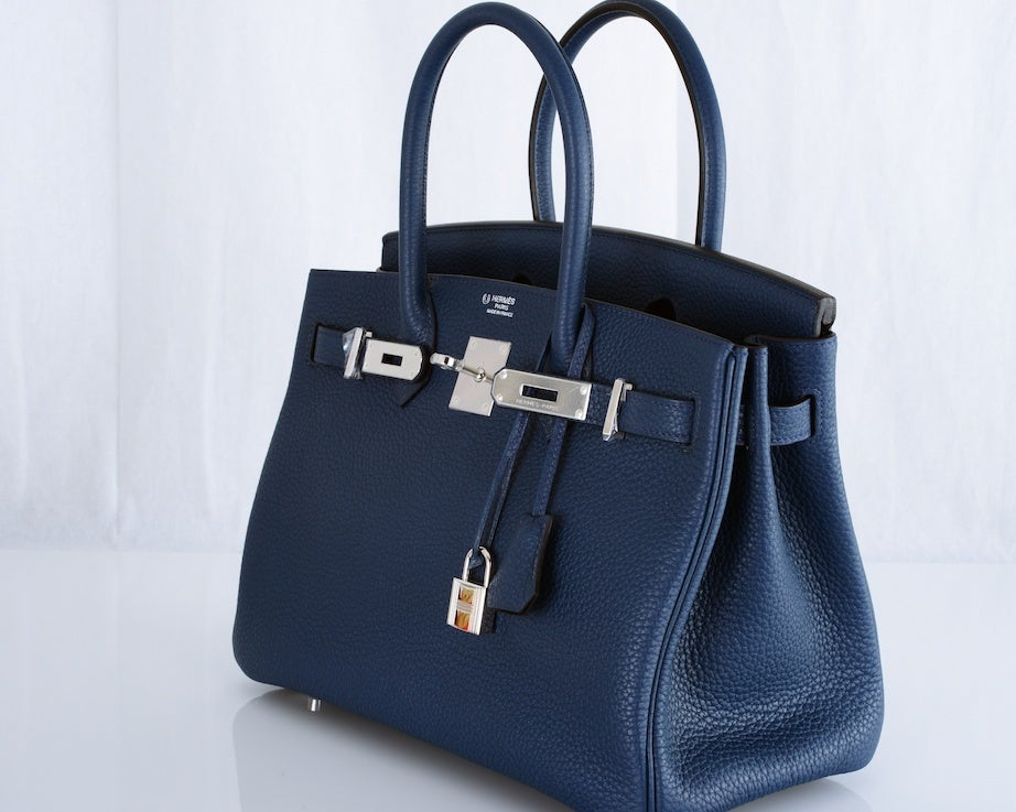 hermes bag outlet - SPECIAL ORDER HERMES 30CM BIRKIN BAG BLUE DE MALT BI COLOR at 1stdibs