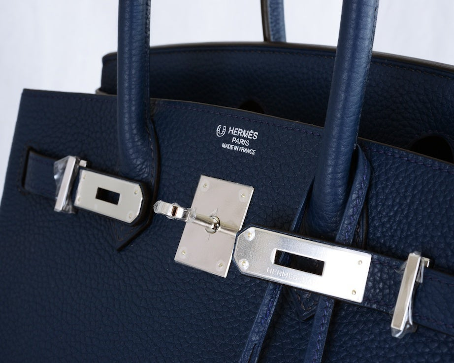 SPECIAL ORDER HERMES 30CM BIRKIN BAG BLUE DE MALT BI COLOR at 1stdibs