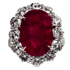 Natural 8.50 CT Ruby and Diamond Ring