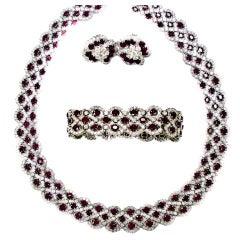 Stunning 3 pc. Rubies and Diamonds Set