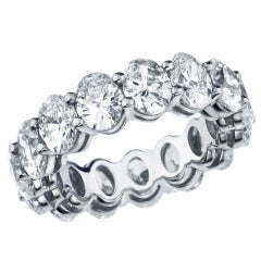 Stunning Oval shape Eternity Band