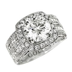 "Round Brilliant Cut Engagement Ring ""Gabriella"""