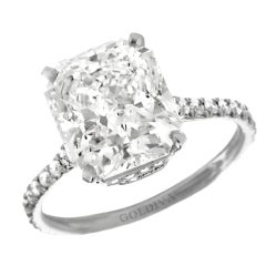 "Magnificent ""Marisol"" Radiant Cut Diamond Engagement Ring"