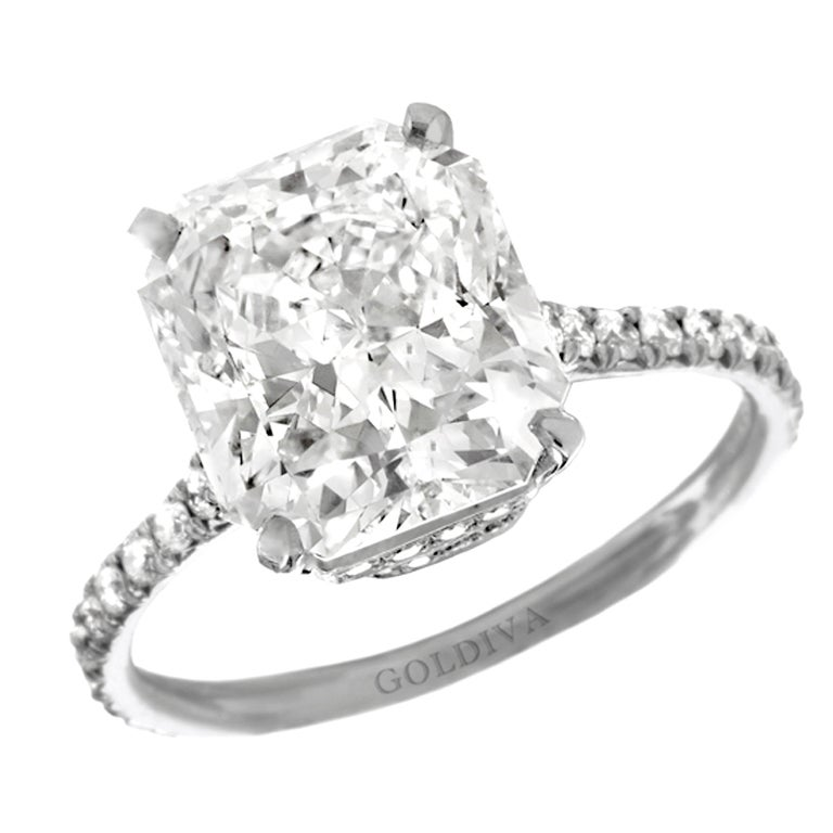 magnificent quot marisol quot radiant cut engagement ring