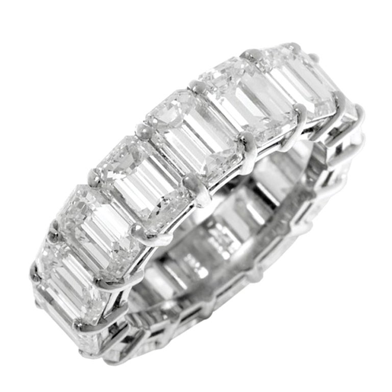 emerald cut eternity band at 1stdibs