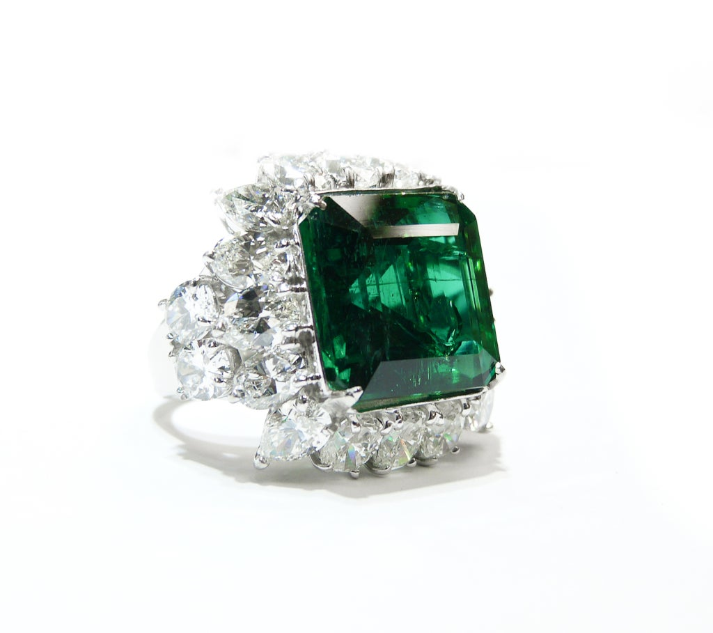 absolutely magnificent beryl emerald ring at 1stdibs