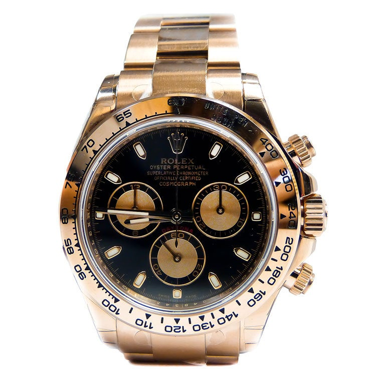 ROLEX Pink Gold Cosmograph Daytona Automatic Chronograph Wristwatch For Sale