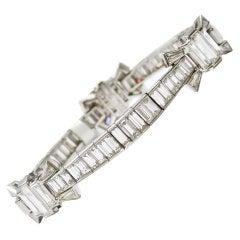 Baguette Diamond Bow Bracelet