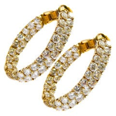 Vinatge Diamond Hoop Earrings.