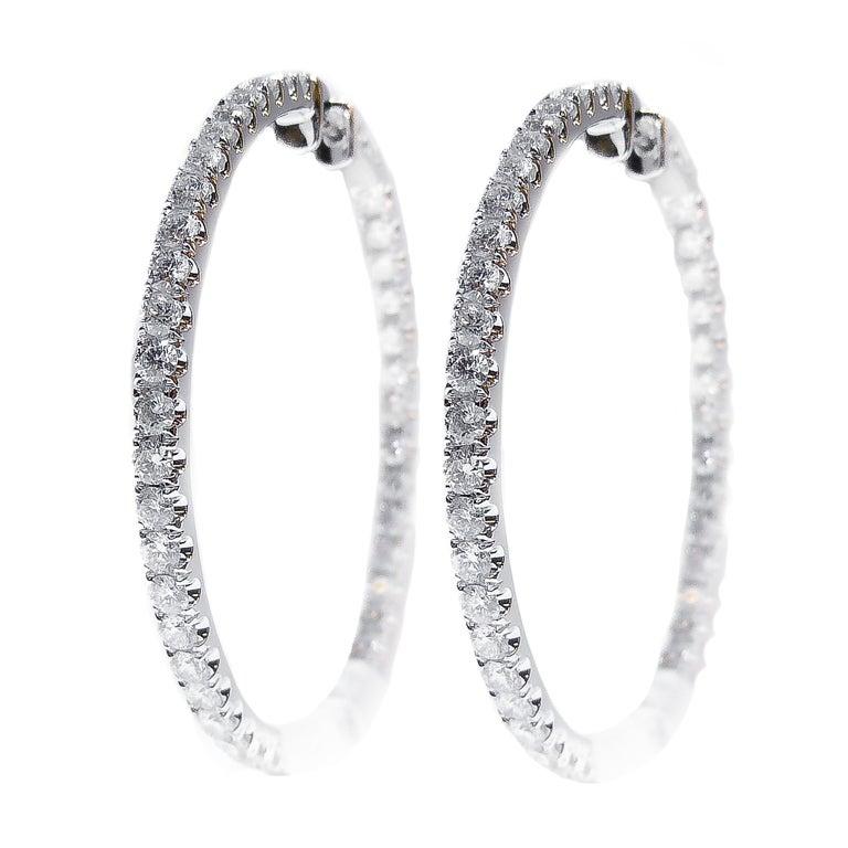 Inside Out Diamond Hoop Earrings