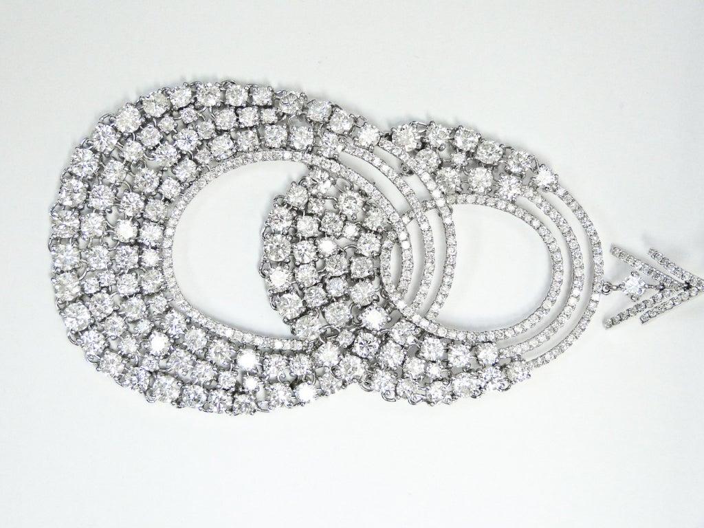 Modern Diamond 35.50 carats Diamond Hoop Earrings 2