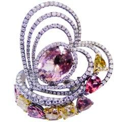 All Natural Sapphire Diamond Fashion Ring
