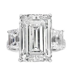 Spectacular 9.38 Carat GIA Emerald Cut Diamond Ring