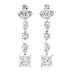 Spectacular 24.32 Carat GIA Certified Diamond Earrings