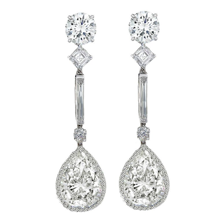 Magnificent GIA Certified Diamond Platinum Earrings