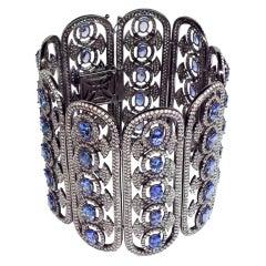 Hand Made Unique Tanzanite Diamond Soft Cuff