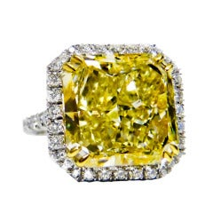Fancy Yellow 10.42 Carat Diamond Ring