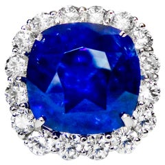 Incredible 37.48 Carat Ceylon Sapphire Ring