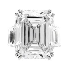 GIA Certified 13.50 carats Emerald Cut Diamond  Engagement Ring