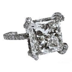 Magnificent 10.02 CT. Princess cut Engagement Ring