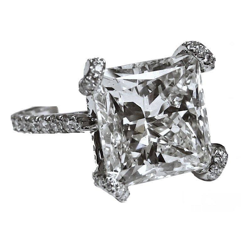 Magnificent 10.02 CT. Princess cut Engagement Ring