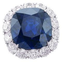 Natural GIA Certified Burma Sapphire Ring