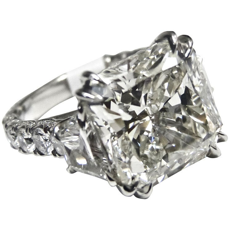 magnificent 10 08 radiant cut ring for sale at 1stdibs