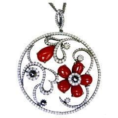 Coral Flower Pendant