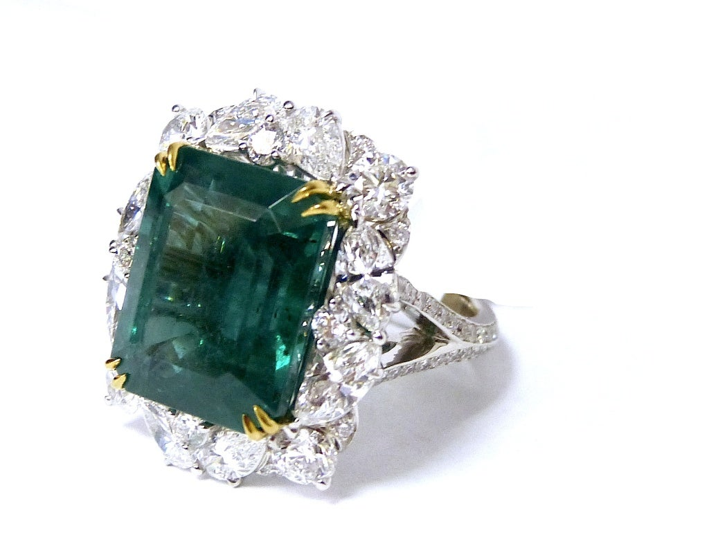 Natural Gia Certified Emerald Ring At 1stdibs