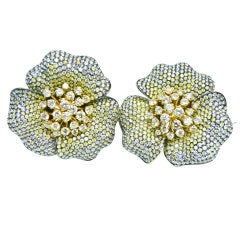 GOLDIVA 'Floral Collection' Fancy Diamond Earrings