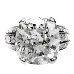 Unique Cushion Diamond Engagement Ring