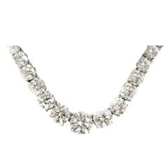 Tennis Necklace of 45 carats of Diamonds