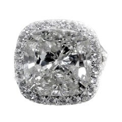 Magnificent 8.03 Radiant Cut Diamond Ring