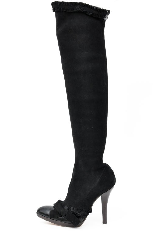 29855d57 A/W 2001 TOM FORD for YVES SAINT LAURENT BLACK OTK BOOTS 37 - 7