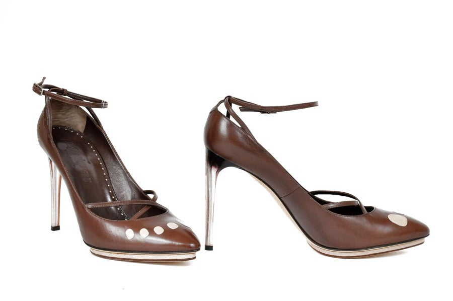 Brown Tom Ford for Yves Saint Laurent platform shoes, S / S 2003 For Sale