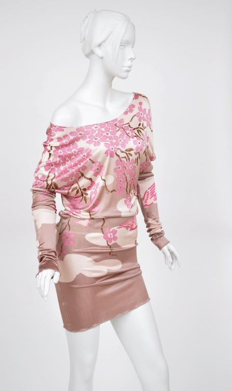 Tom Ford for Gucci Japanese Print Dress 4