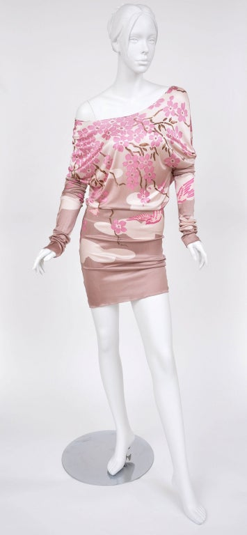 Women's Tom Ford for Gucci Japanese Print Dress For Sale