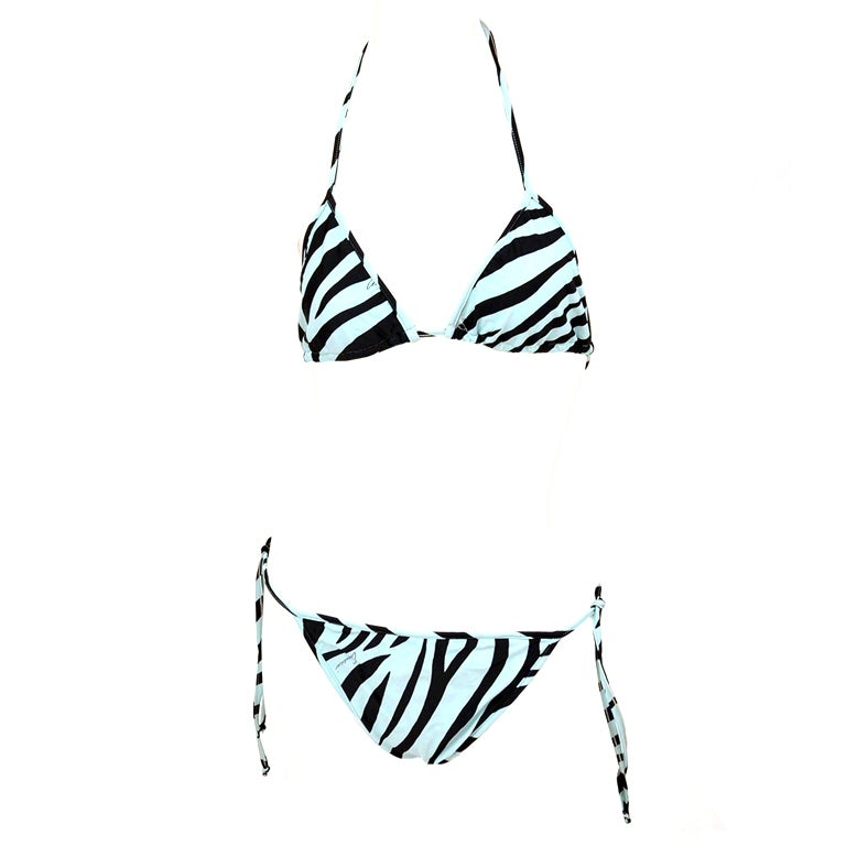 RARE S/S 1996 Tom Ford for Gucci Zebra print Swimsuit