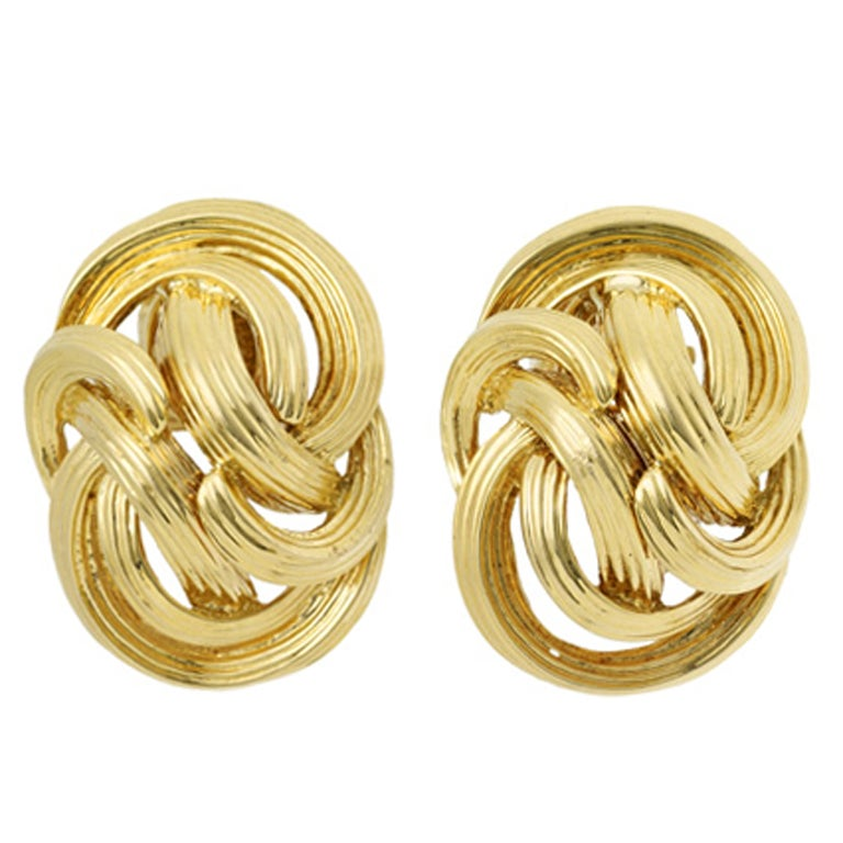 Tiffany & Co.  Gold Swirl Earrings 1