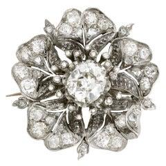 Past Era Late Victorian Diamond Blossom Pin