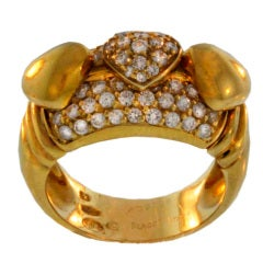 Piaget Diamond &  Gold Ring with Hearts