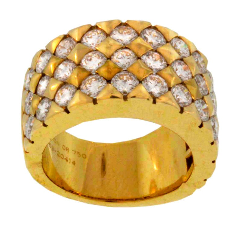 Stunning Boucheron Diamond And Yellow Gold Band At 1stdibs