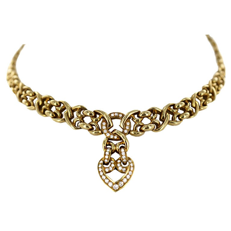 asprey and gold link necklace at 1stdibs