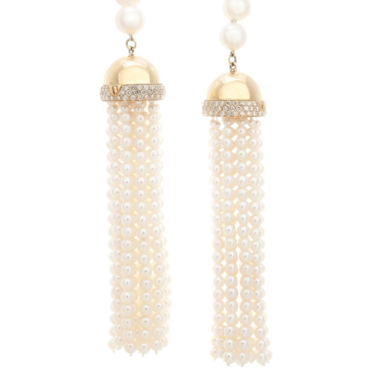 Outstanding Pearl and Diamond Lariat 2