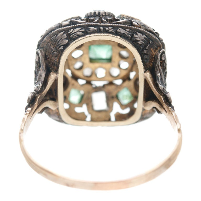 large antique emerald ring at 1stdibs