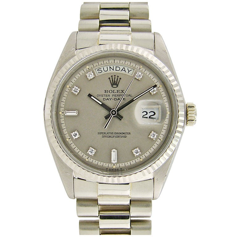 ROLEX White Gold Rare Diamond Dial & Original Bracelet